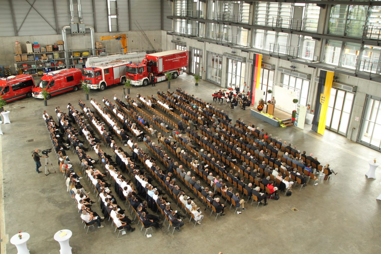 Eröffnungszeremonie für die neue Landesfeuerwehrschule Baden-Württemberg in Bruchsal