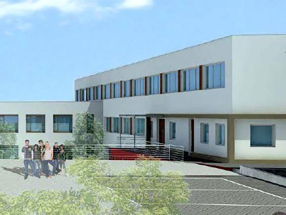 sanierung erweiterung der schule mit Planung fuer Heizung Lueftung Sanitaer